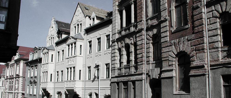 Restautrierte Jugendstilhäuser